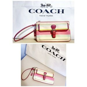 "Coach ""Hamptons"" watercolor wristlet"